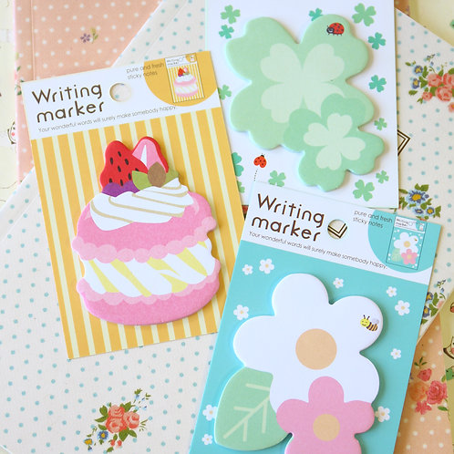 fusen collection writing marker cartoon sticky notes