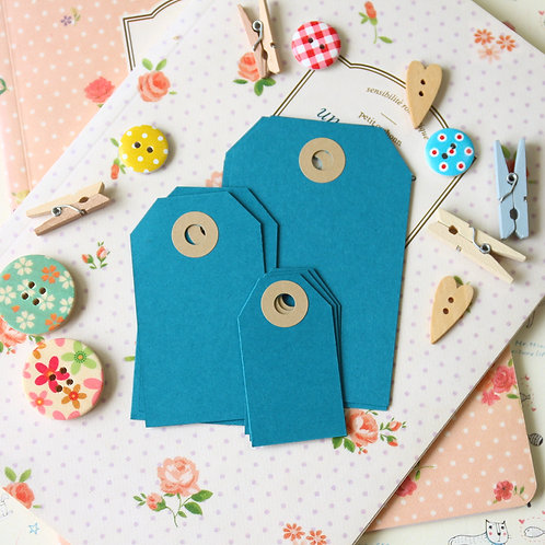 teal blue papermill series luggage gift tags