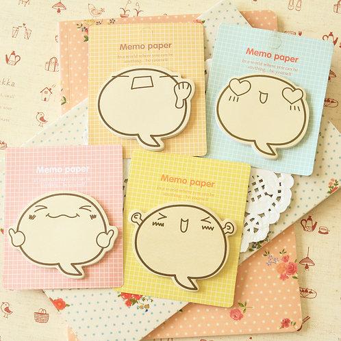 memo paper cartoon faces sticky notes