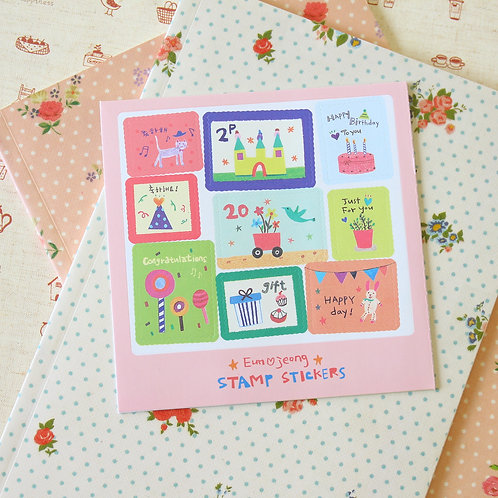 eun jeong cartoon stamp stickers ver 02
