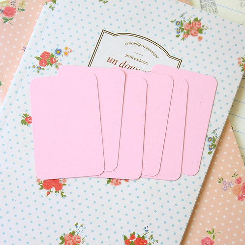 baby pink papermill colour blank business cards
