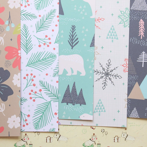 set 02 holiday patterns mix christmas printed card stock