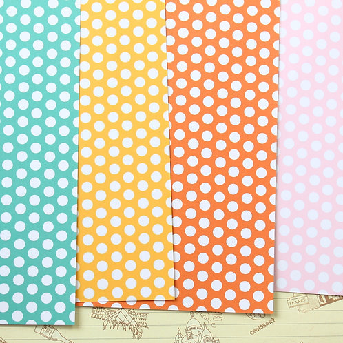 set 03 small dots mix printed card stock