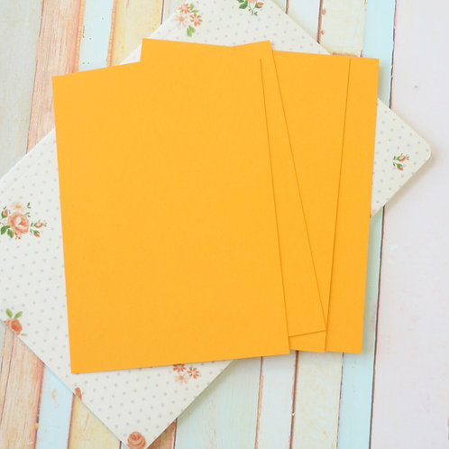tangerine orange craft style blank postcards