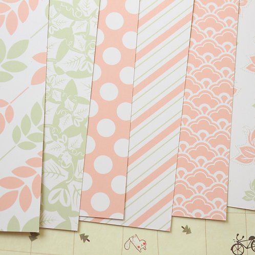 set 03 damask floral geometric mix printed card stock