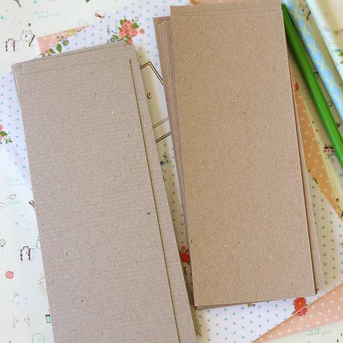 kraft brown card stock bookmark blanks
