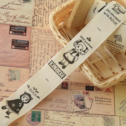 sweet doll cartoon cotton sewing tape ribbon