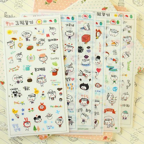 rangcat cartoon stickers set