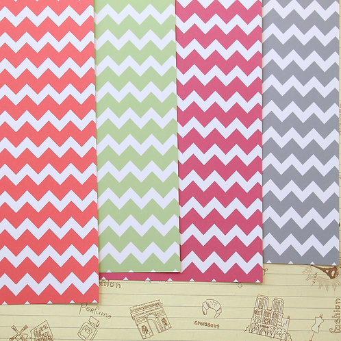 set 02 chunky chevrons mix printed card stock