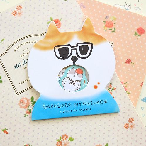 03 gorogoro cat cartoon sticker flakes