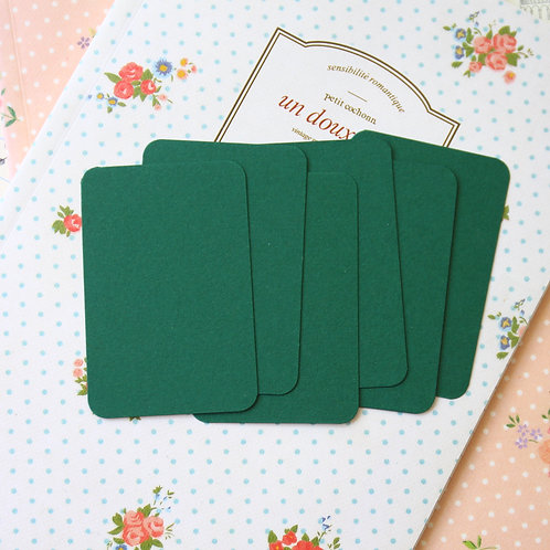 forest green papermill colour blank business cards