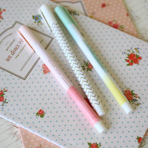 pastel wave deco pattern pens