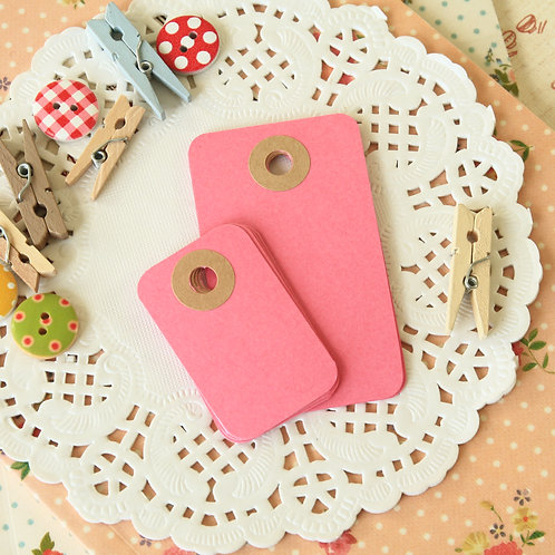 cerise pink rounded rectangle tags