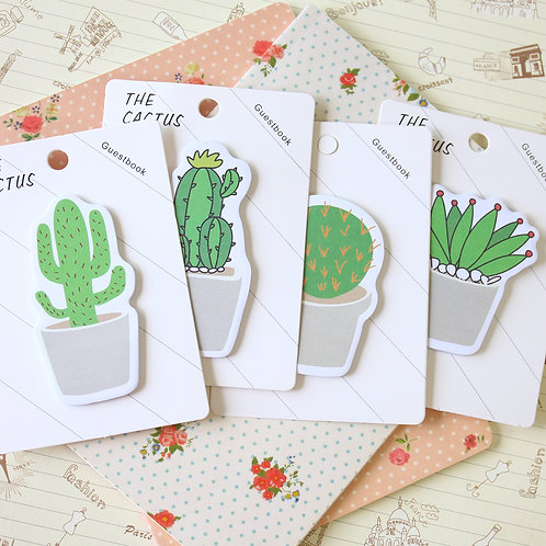 cute cactus sticky notes