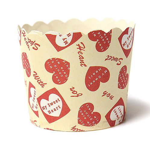 sweetheart candy muffin paper cups cupcake liner