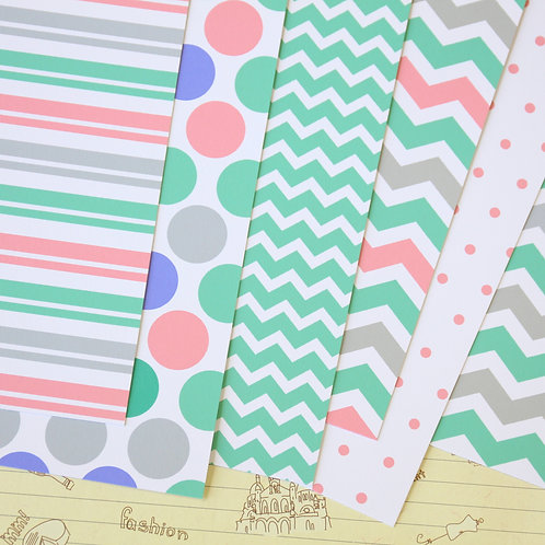 set 01 spring brights printed card stock