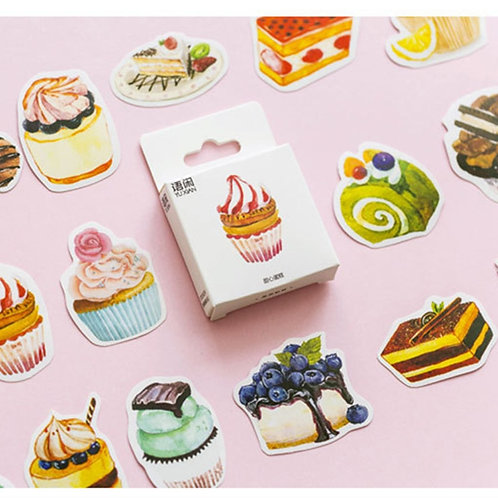 nice cake cartoon sealing stickers