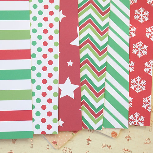 set 03 christmas patterns printed card stock