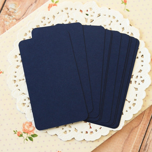 blueberry navy blank business cards