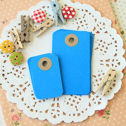 deep blue rounded rectangle tags