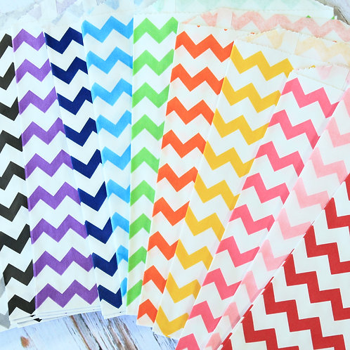 chevron middy bitty paper bags