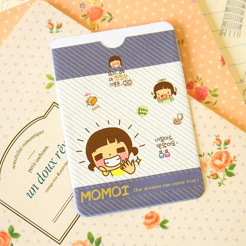 smile momoi girl cartoon card holder