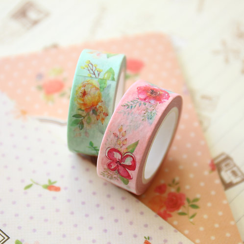 fresh flowers floral washi tape