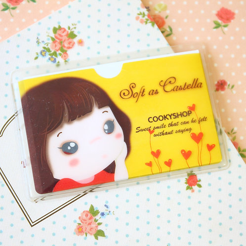 cookys girl lemon cartoon card pocket holder