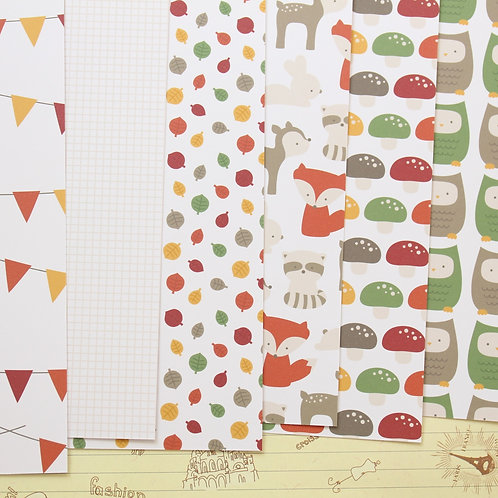forest cuties mix printed card stock