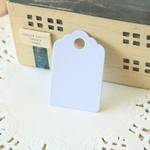 pale lilac scallop swing tags