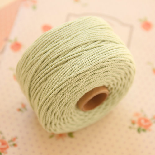 sage green twisted cotton bakers twine 80m