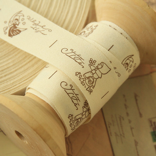 country girl cartoon cotton sewing tape ribbon