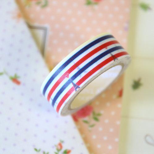 eiffel stripe washi tape