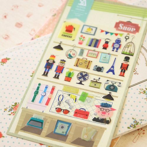 sonia vintage shop cartoon puffy stickers