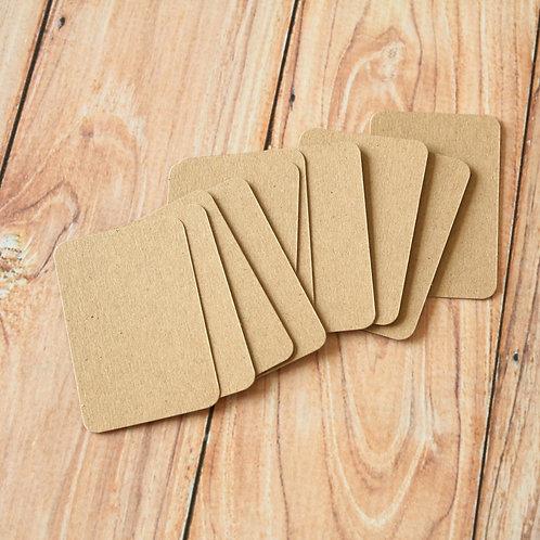 plain kraft brown blank business cards