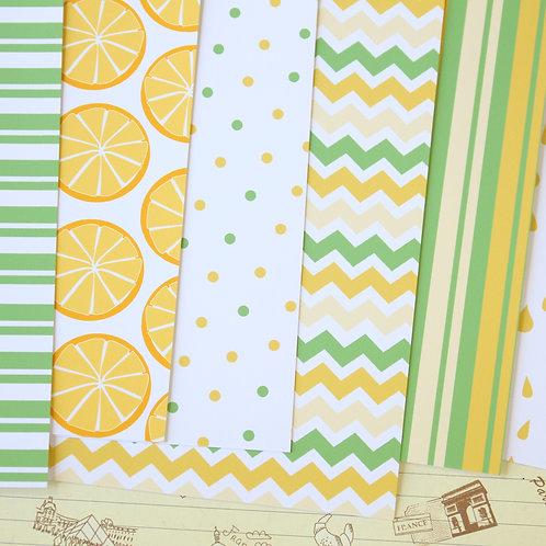 set 01 lemon lime summer printed card stock