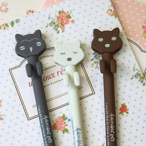 adorable pet cartoon pens