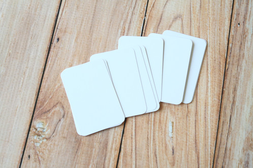 Smooth white blank business cards lemoncat shop get cute very eco friendly these are ready to use for customized stamped business name cards hang tags mini post cards or reheart Choice Image
