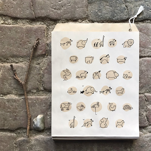 east of india animals large paper bags