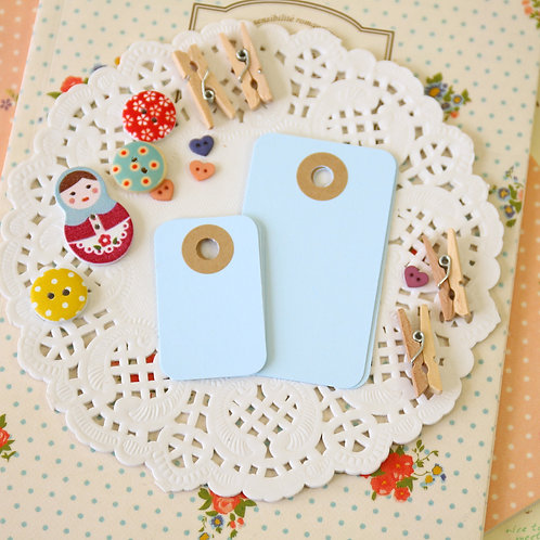 pale blue rounded rectangle tags
