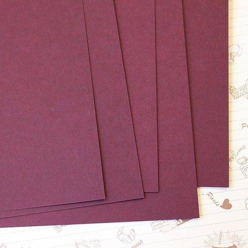 maroon papermill series card stock
