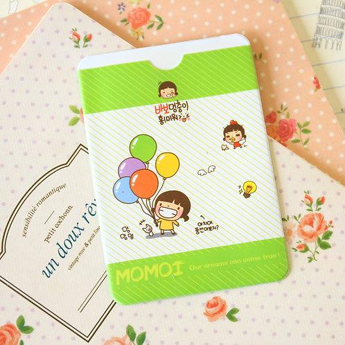 balloons momoi girl cartoon card holder