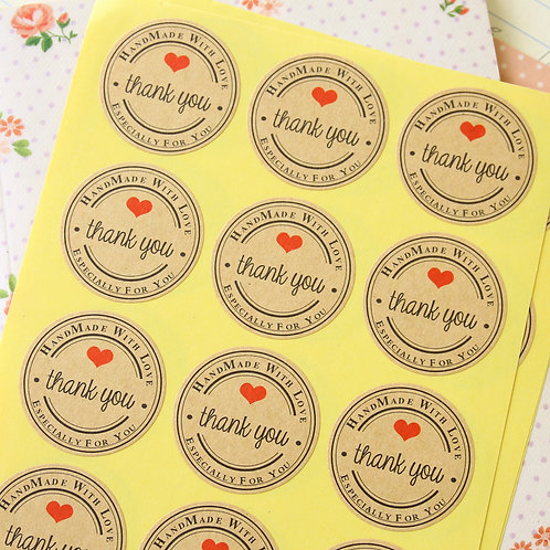 thank you especially for you red heart kraft brown sticker seals