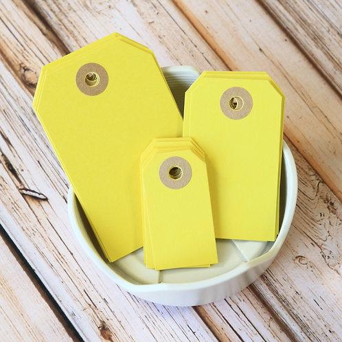 lemon yellow colour luggage tags