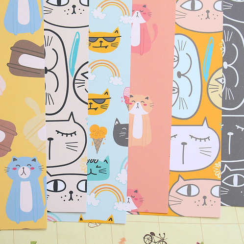 set 02 happy cats mix printed card stock