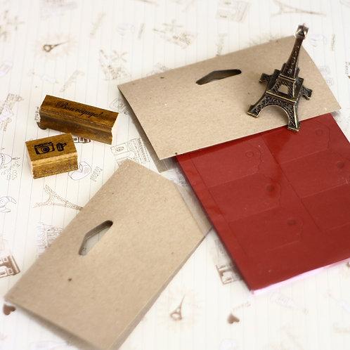 plain kraft brown card bag toppers