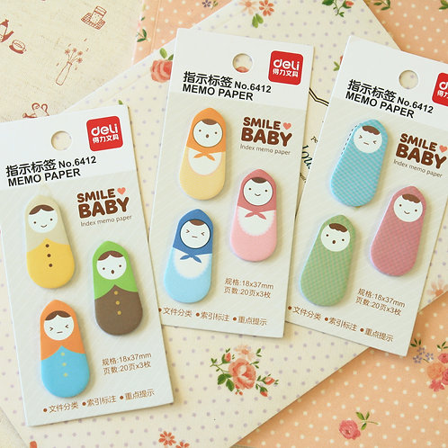 smile baby matryoshka babushka cartoon sticky notes
