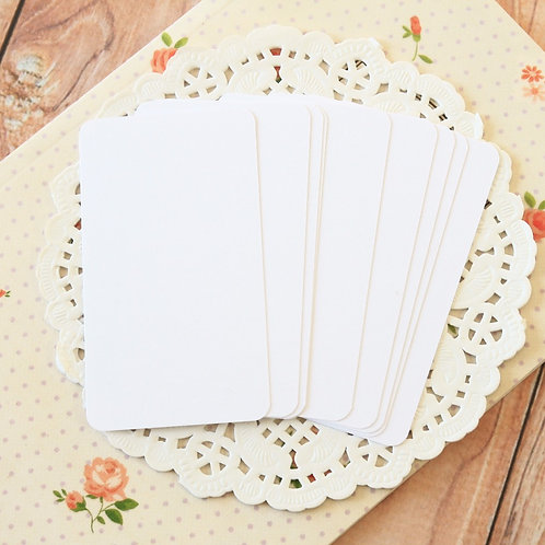 cotton white blank business cards