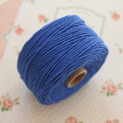 cobalt blue twisted cotton bakers twine 80m