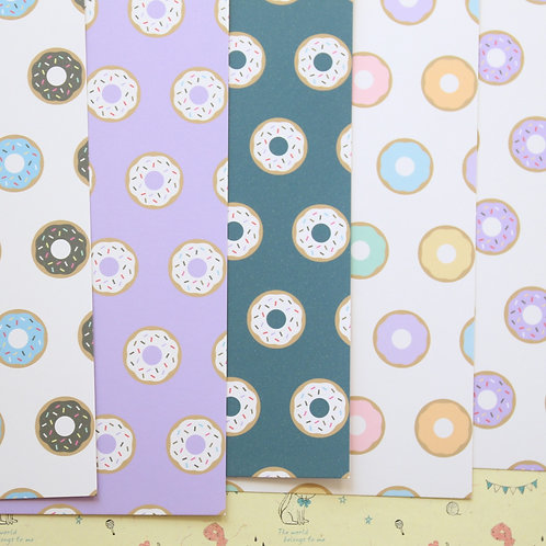 set 01 cute donut patterns printed card stock